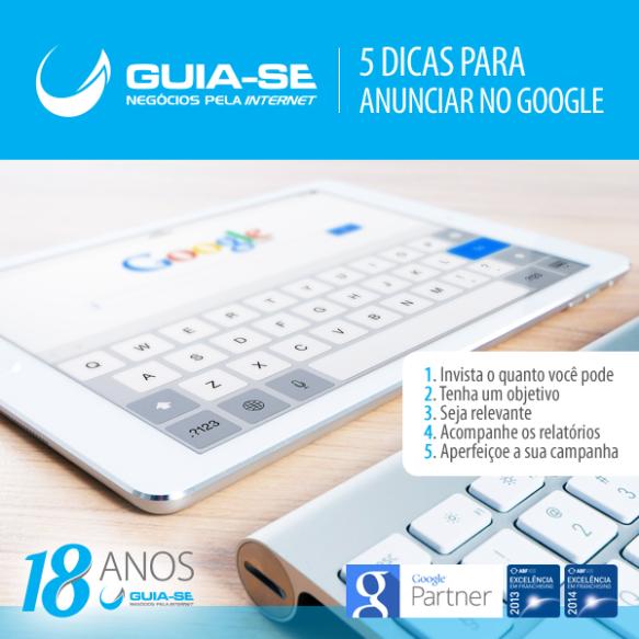 Cinco (5) dicas para anunciar no Google.